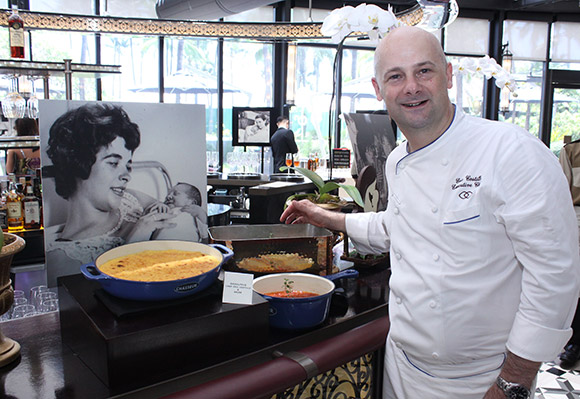 Chef Eric Costille with his mother's signature dish