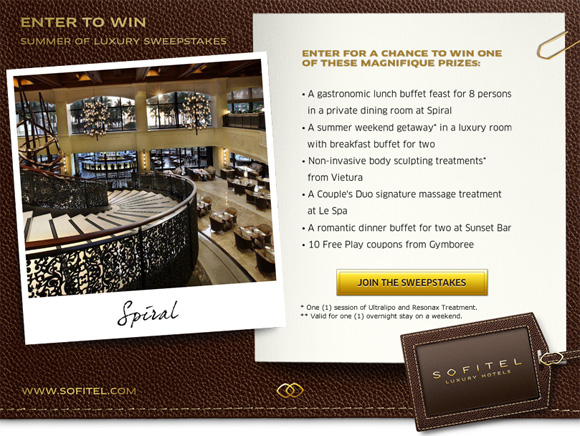 Join in Sofitel Manila's contest.
