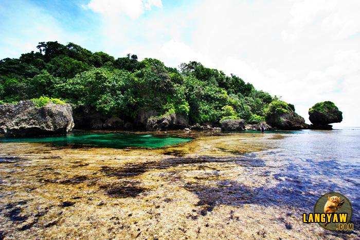 Interesting seawater pools at Magpupungko Beach in Siargao
