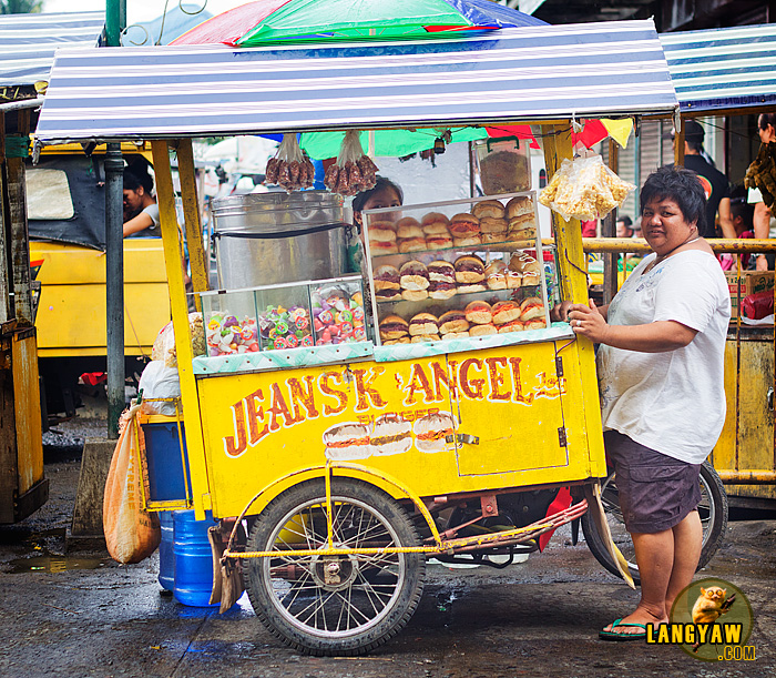 Alona Alferez, 37 year old vendor has been selling her sandwiches for the past 17 years.