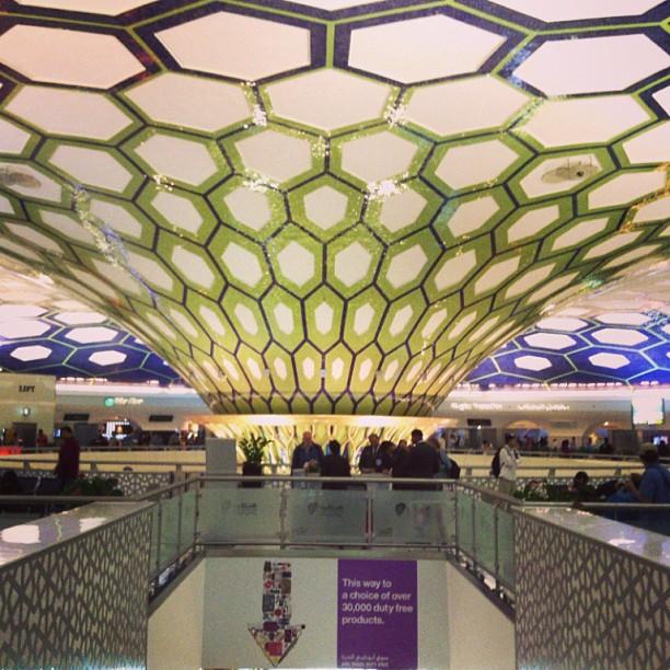 At the Abu Dhabi International Airport