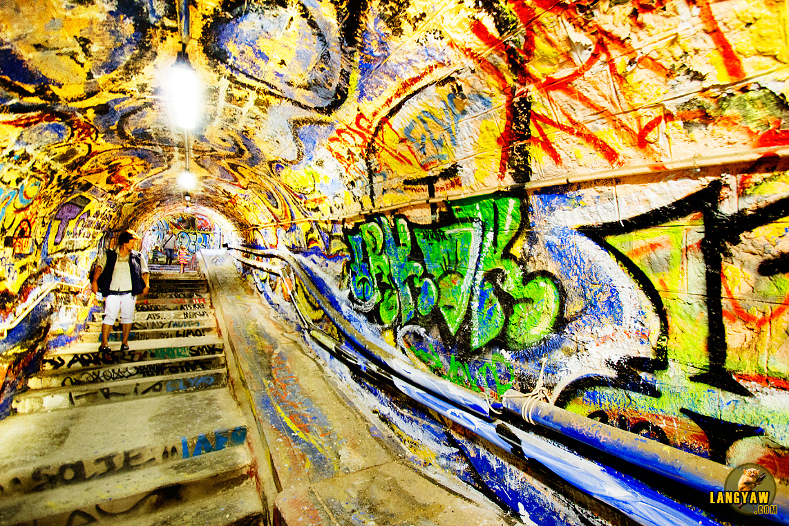It's an elaborate and very chaotic yet beautiful execution of graffiti on tunnel walls