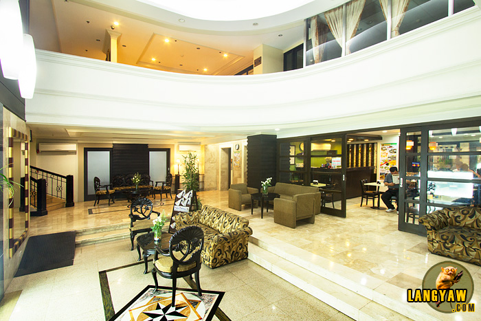 Spacious lobby of Fersal Hotel - Malakas