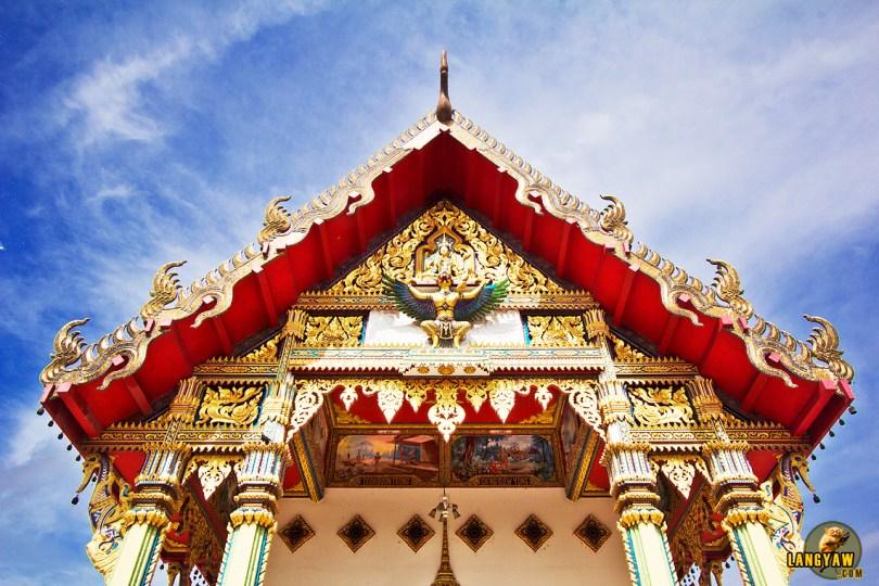 The gorgeous pediment of Wat Nikrodharam, Alor Setar, Kedah, Malaysia