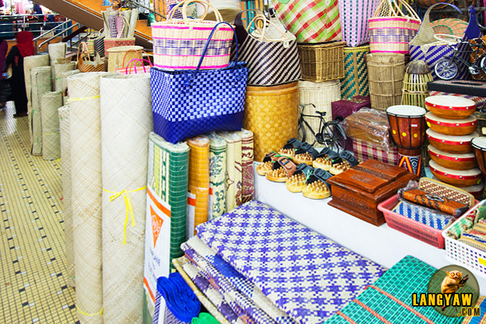 There are local handicraft products of all sizes, shapes and use