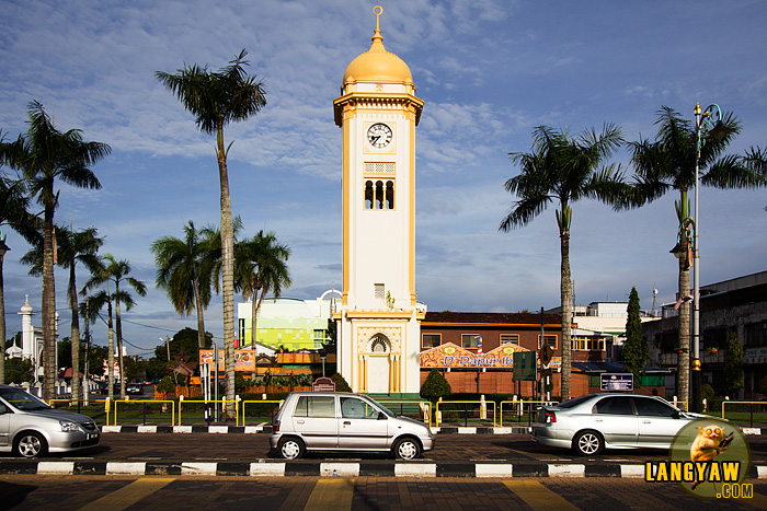 The city's clock tower located at the city centery is a beautiful structure