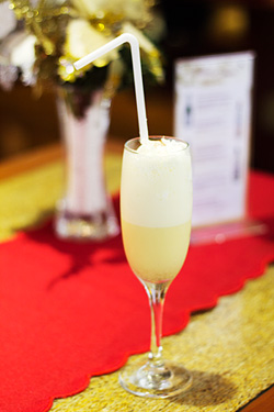 Cafe Marco's delicious eggnog, a real Christmas treat!