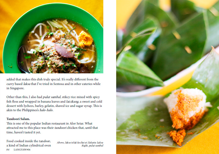 Another page spread on food in Alor Setar
