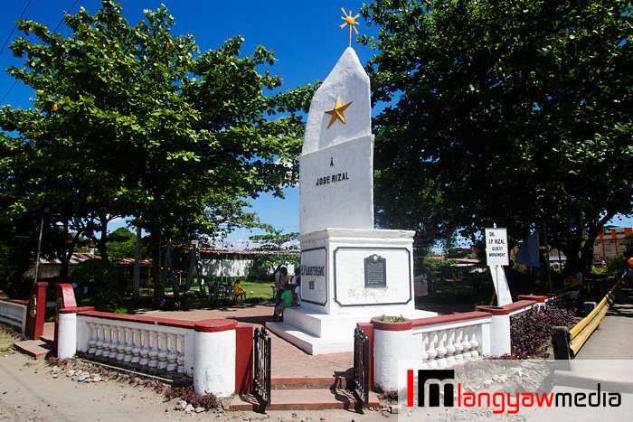 The Jose Rizal monument in Daet, the country's first which was erected for the national hero