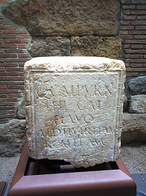 Stone  block with inscriptions