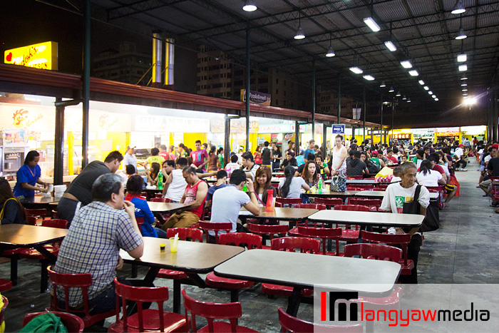 At Foodstreet, a dedicated dining area at the far end of of Tutuban Mall