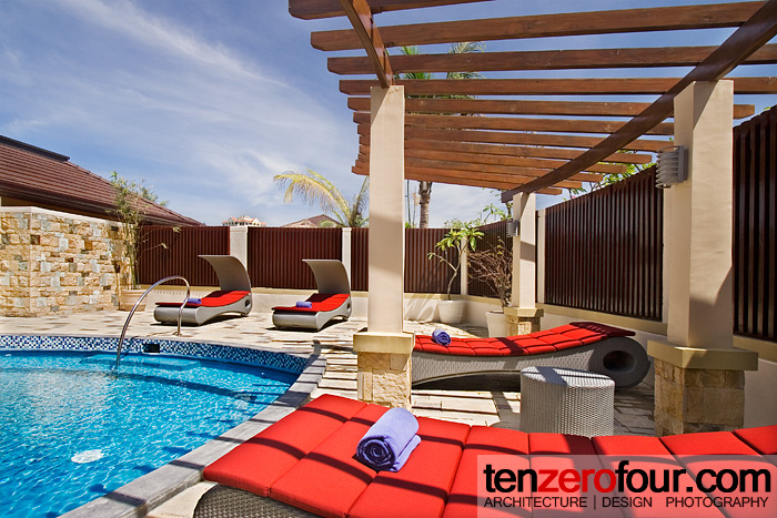 Pool and lounging chairs