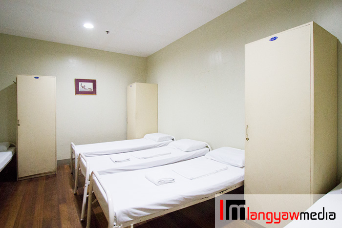 Airconditioned room for three, common toilet and bath