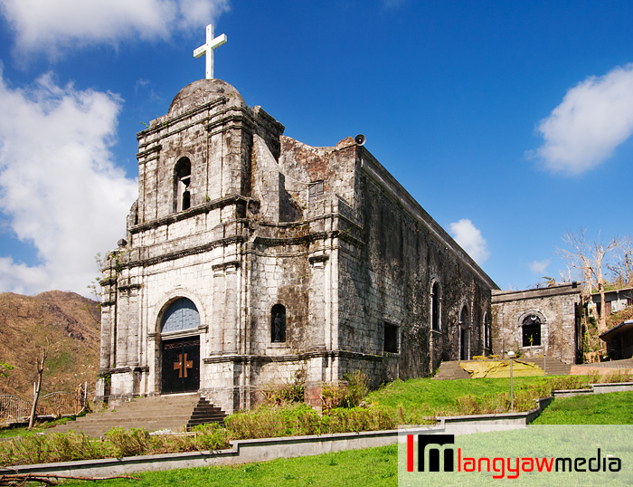 Beautiful and Bato Church built overlooking a river