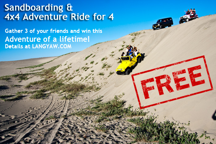 Thrilling ride down at the Ilocos Norte Sand Dunes