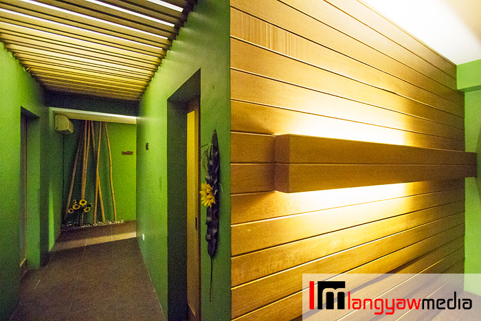 Hallway inside Soneva Spa