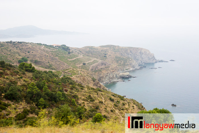 Rugged terrain meets the Mediterranean Sea