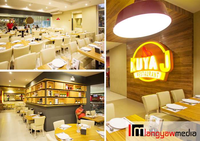 The interior design of Kuya J exudes home comfort with a contemporary edge