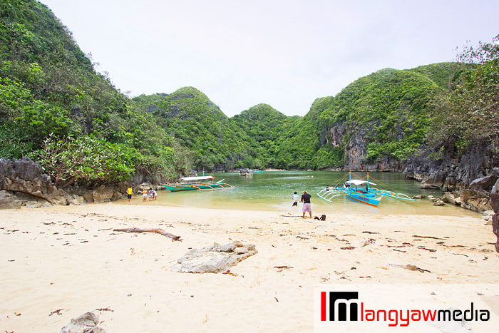 The white sand beach that we visited within the Tinago Cove