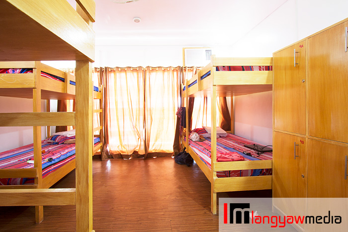 The hostel's dorm type accommodation