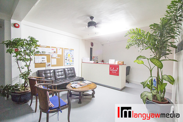 Hostel lobby at the third floor of the building
