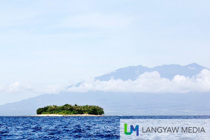 Aguirangan Island with Mt. Isarog in the background