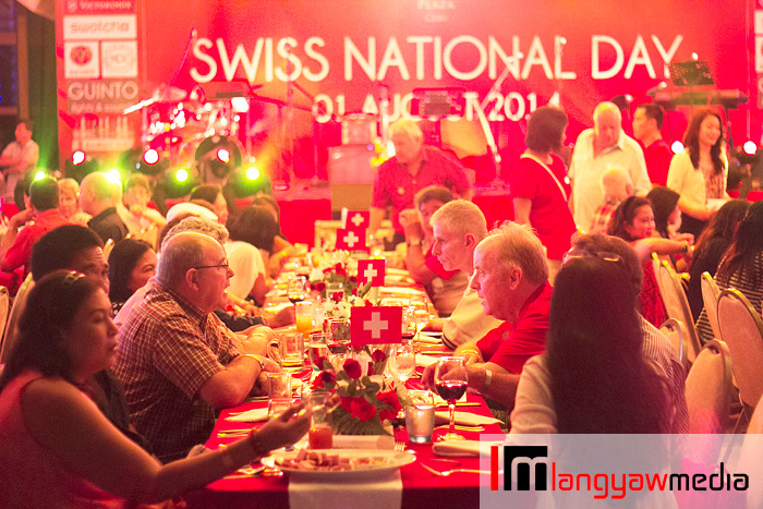 It was a big event as several Swiss nationals from Visayas and Mindanao, guests and members of the Diplomatic Corps in Cebu gathered for the Swiss National Day celebrations in Marco Polo Plaza Cebu