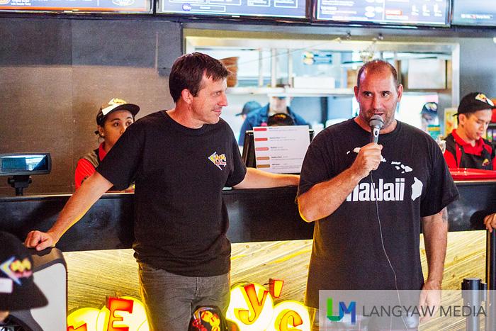 The founders of Teddy's Bigger Burgers, Ted Tsakiris (right), Rich Stula (left)