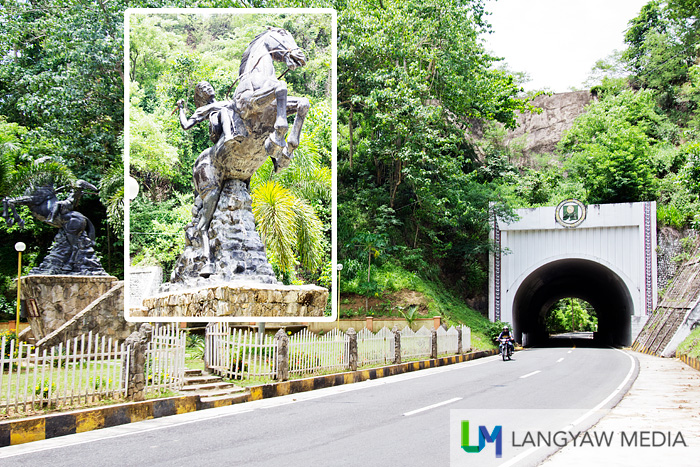 The Tangadan Tunnel in San Quintin welcomes you to Abra. A beautiful sculpture of local heroine, Gabriela Silang is at the left.