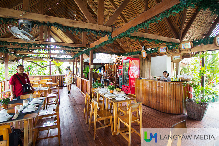 The kubo style restaurant of Inato Lang by the river in Dapitan City served delicious Filipino cuisine