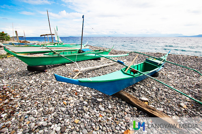Fishermen's outrigger boats