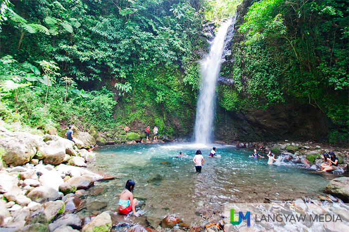 Busay Falls is a series of seven waterfalls. This one is the bottom cascade and is the most popular with visitors