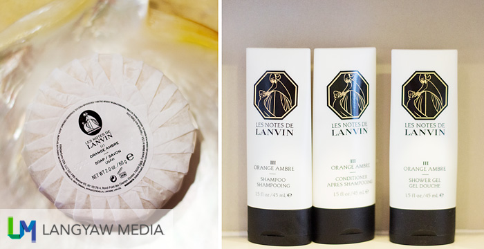 Lanvin branded soap, body and hair products