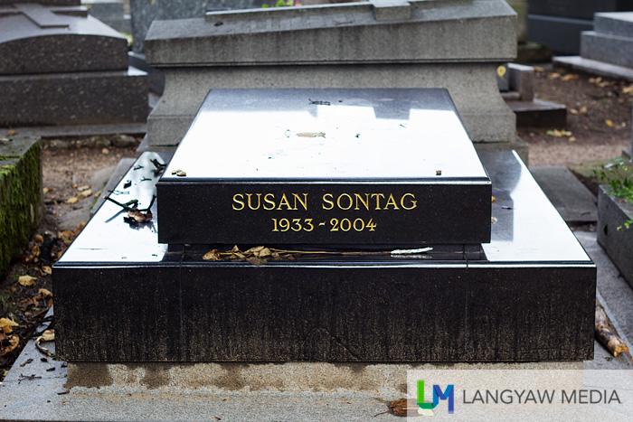 Grave of writer Susan Sontag