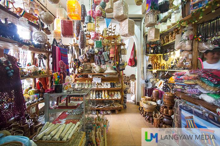 Inside one of the souvenir and handicraft shop