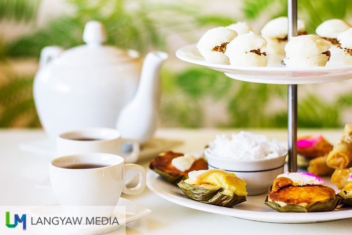 High tea, Filipino version with native food
