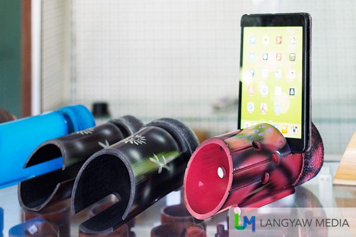 An Ipad/smartphone bamboo amplifier!