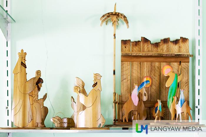 A beautiful nativity scene made from bamboo