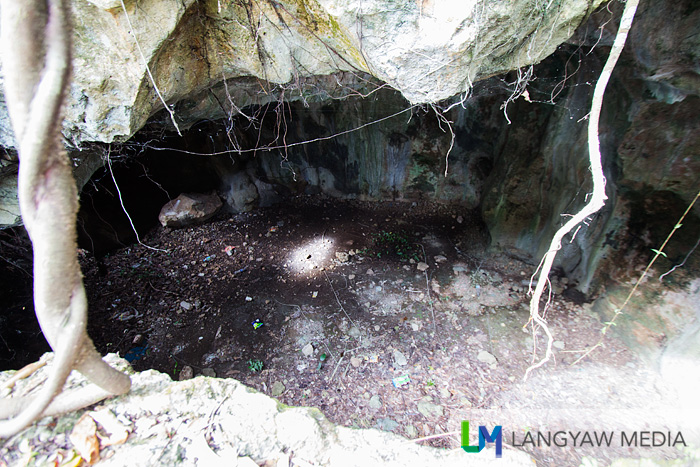 One of the many cavities that dot Tigayon Hill.
