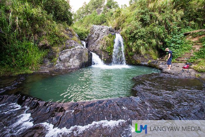 Small Bokong Falls with its deep natural pool