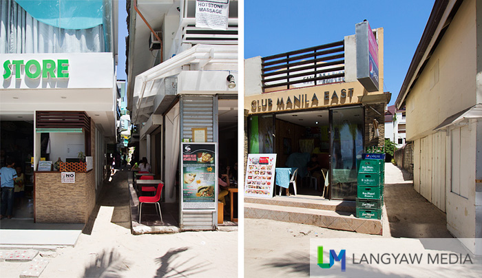 Left and right alleys where you can check for budget accommodations just very near the beach front of Station 2. Just look for Real Coffee and you can see these alleys.