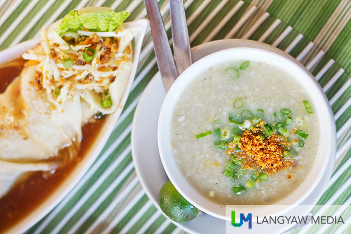 Interesting pair of fresh lumpia and a small serving of arroz caldo which is a good alternative if you want to try the two best sellers without getting too full.