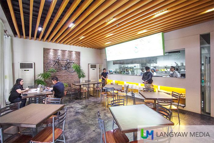 Interior space of the restaurant