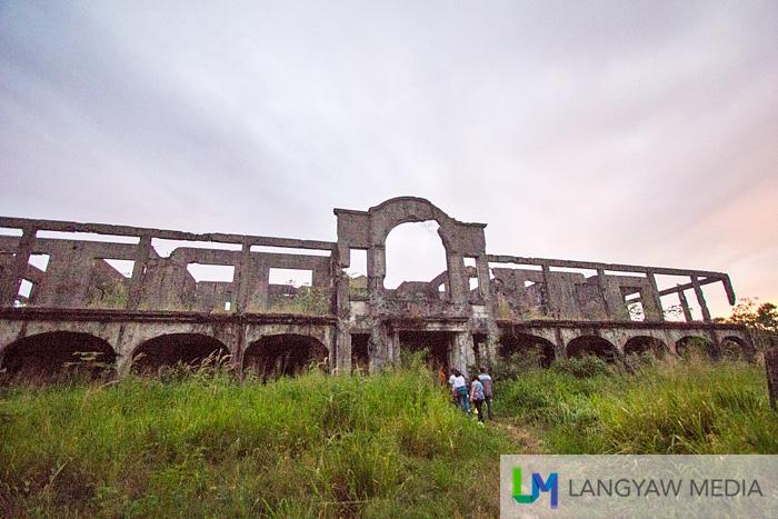 Facade of the hospital ruins