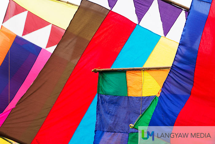 Stunningly colorful sails of vintas during the Regatta de Zamboanga