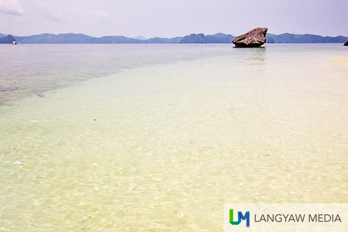 Pristine waters of the beach