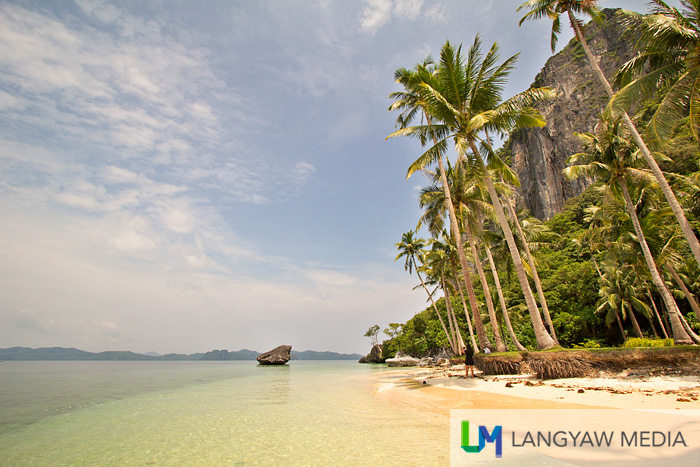 Another view of the stunning beach of the island