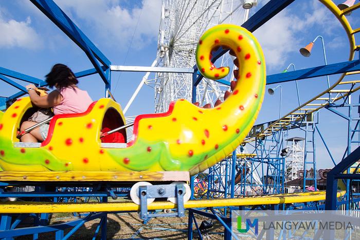 Colorful kiddie rides