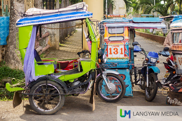 The typical tricycles found in Jimenez that is the recommended transport going around town