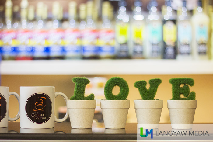 LOVE... at the counter of Coffee Lounge